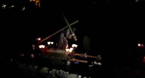 Villafranca celebró el Miércoles Santo con la procesión del Calvario